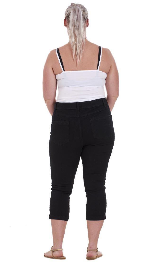 Donna Taglie Forti Corti Pantaloni Estivi Tasche Vacanza CURVA Jeans