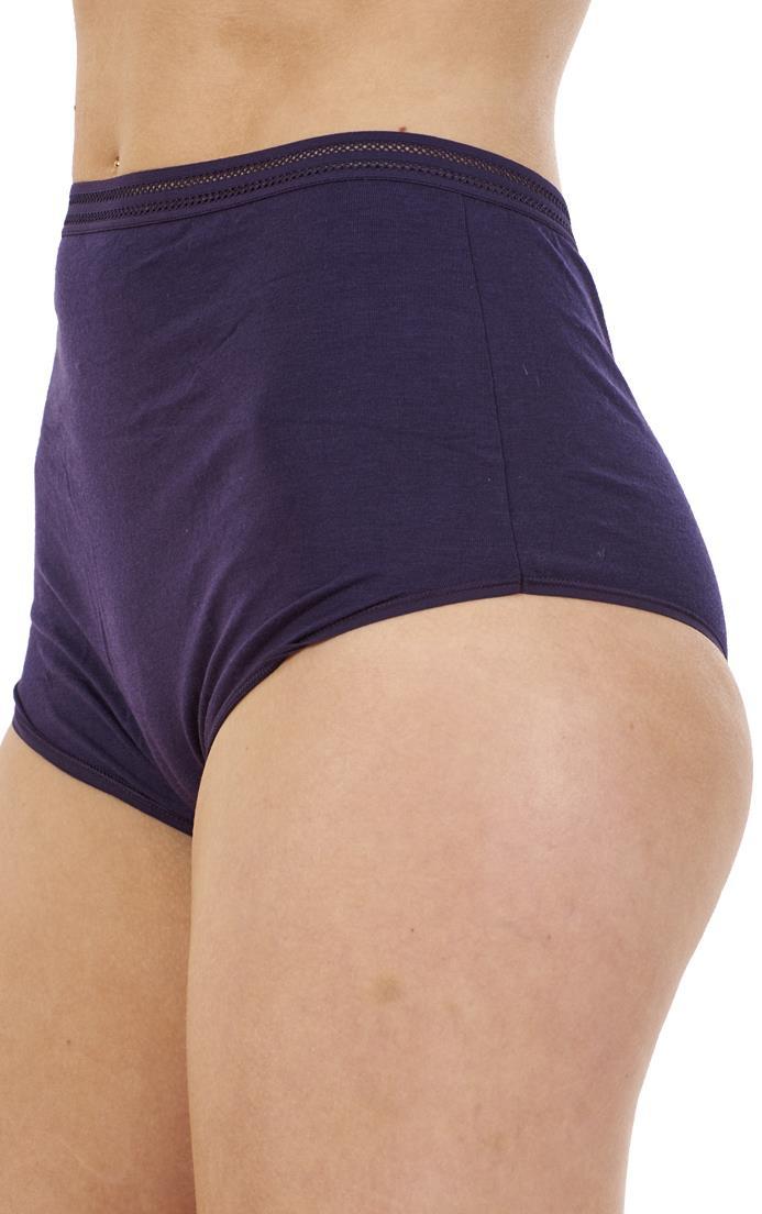 Ladies 5 Pack Multi Pack NO VPL Womens Underwear Full Briefs