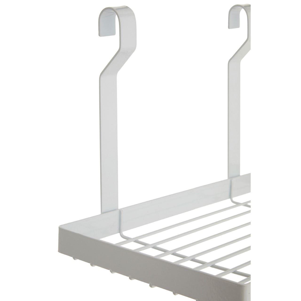 Iron White Hanging Storage Rack Hanging Cylindrical Rail and Hanging Hook