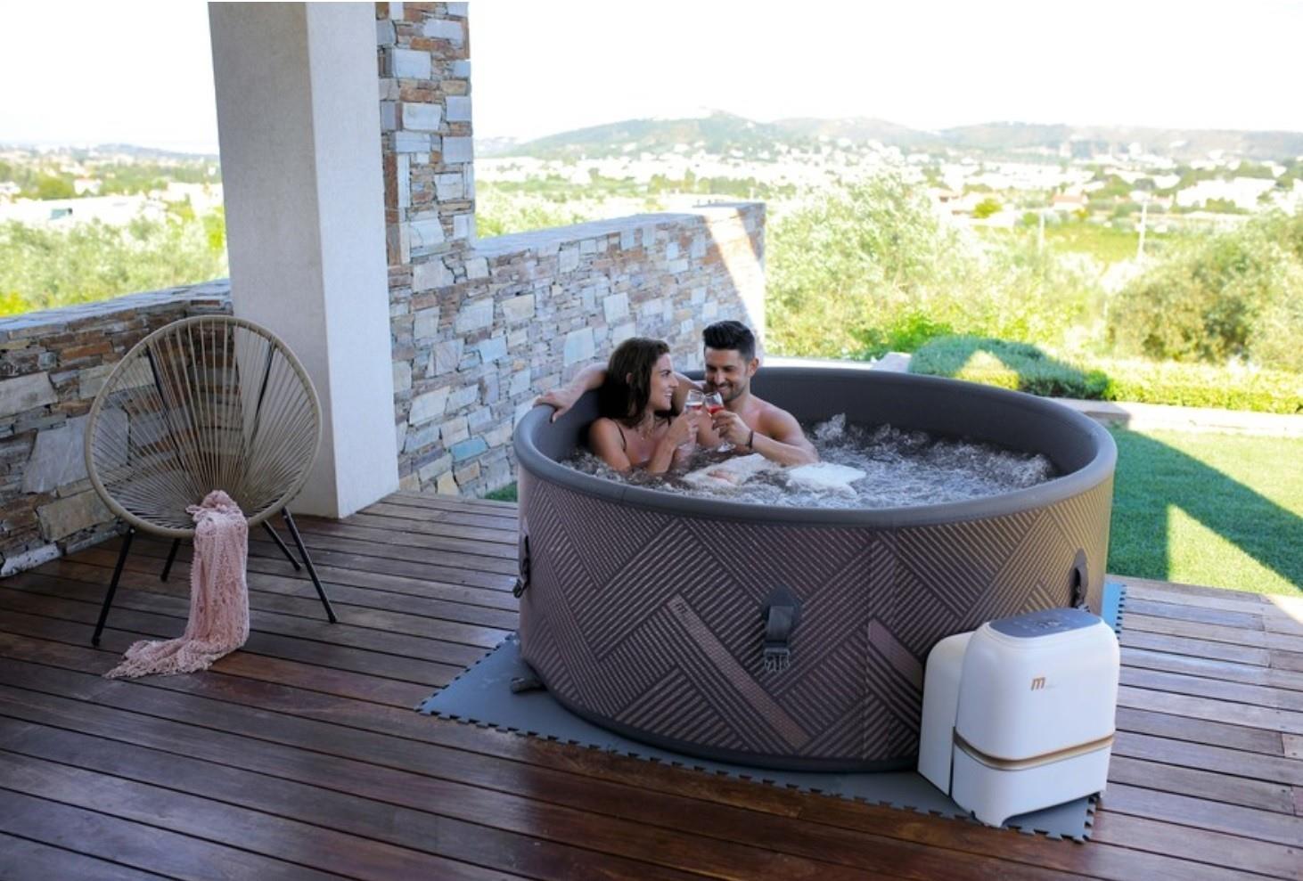 Mspa Mono 6//4 Bathers Inflatable Hot Tub Spa Jacuzzi Cover Home Holiday Family