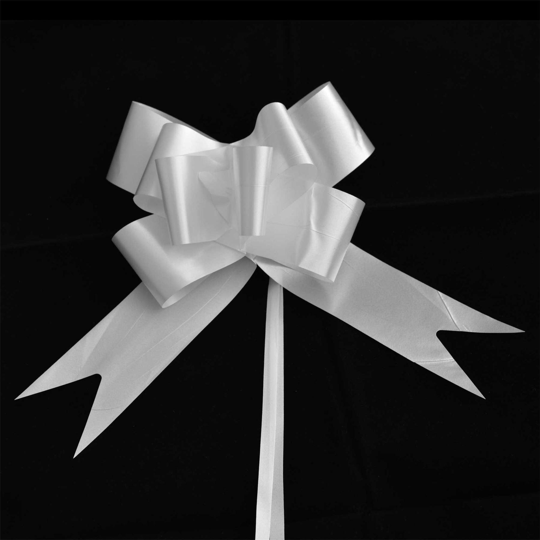 30mm Pull Bows Wedding Hampers Car Gift Wrap Ribbon Florist Pew Xmas Decorations