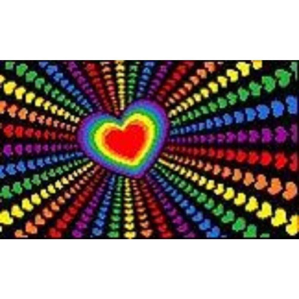5x3FT Gay Pride Rainbow LGBTQ Love Flags Photo Props Lesbian Festival Carnival