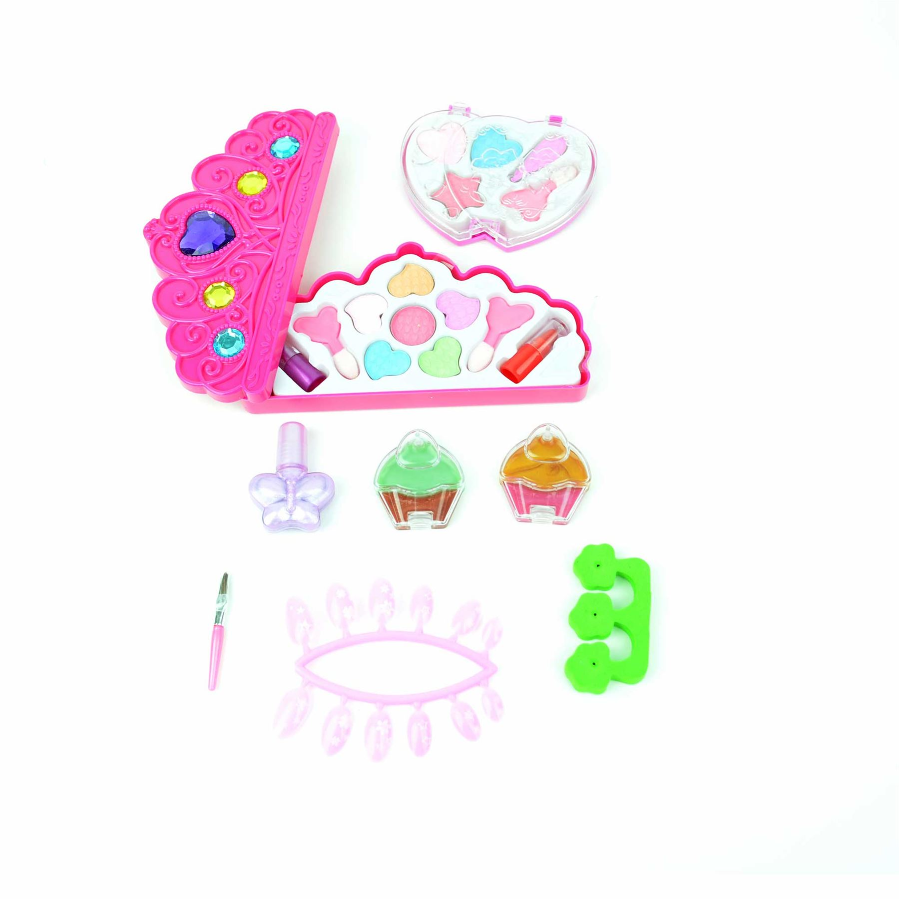 Kids Make Up Kits Girls Pink Play Set Birthday Gifts Toys Dressing Vanity Case