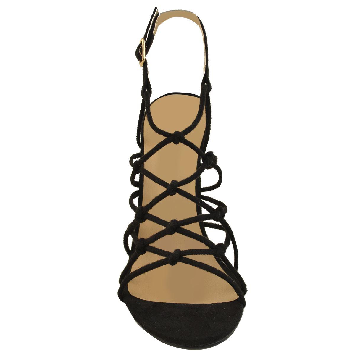 Womens Stilleto High Heel Party Sandals Nude Black Wedding Strappy Buckle Size