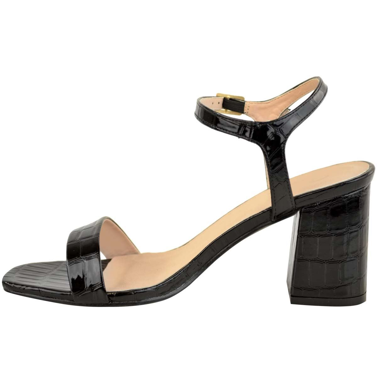 Womens Ladies Low Block Heel Sandals Smart Formal Party Shoes Ankle Strap Size