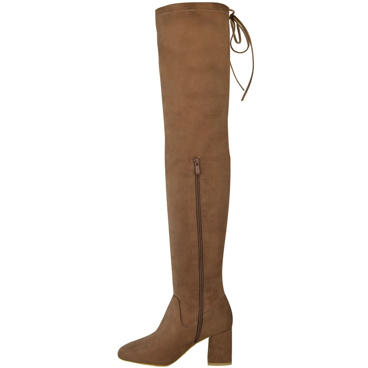 Womens Ladies Flat Thigh High Boots Over The Knee Long Length Shoes Casual Size