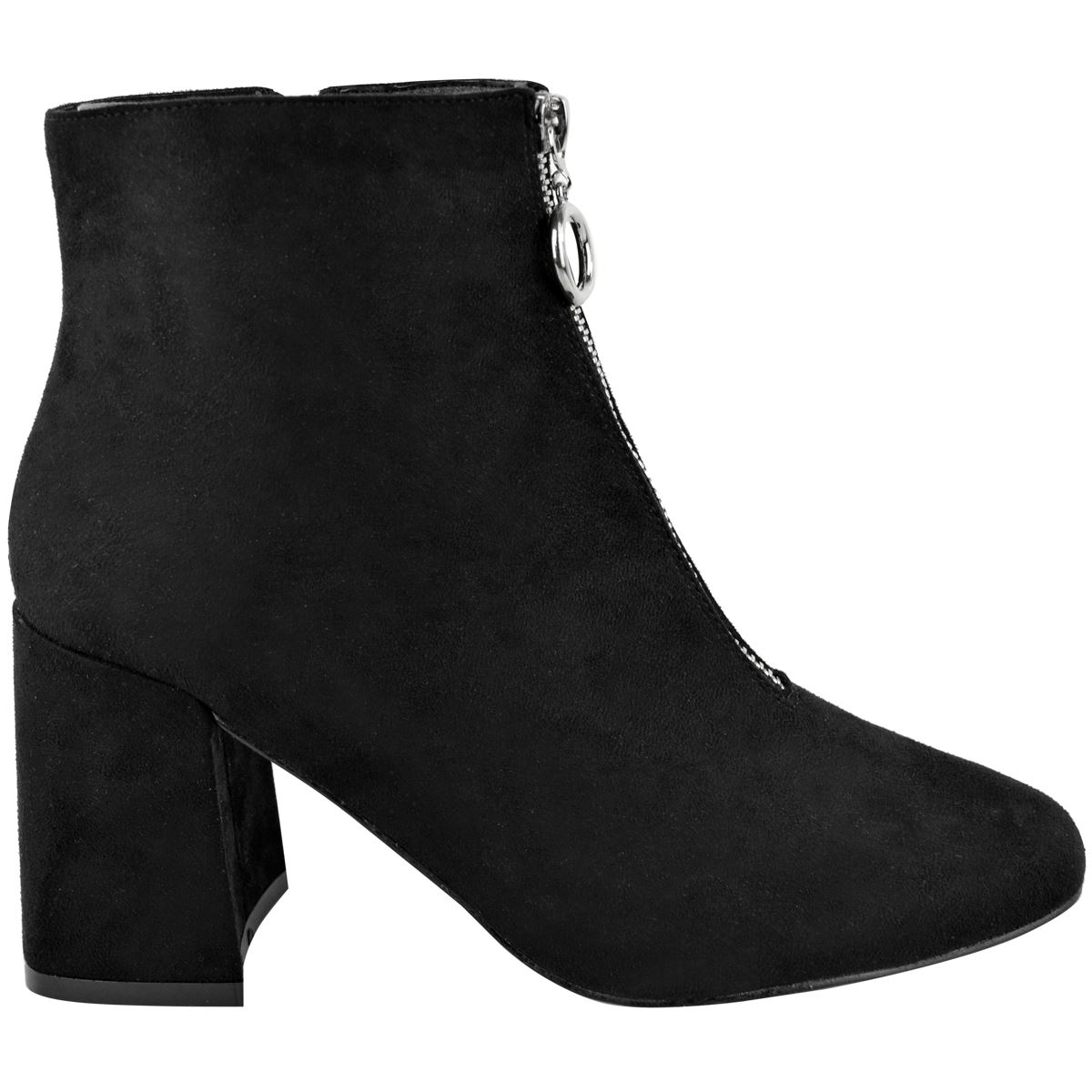 Womens Ladies Mid Low Block Heel Ankle Boots Work Office School Casual Shoes