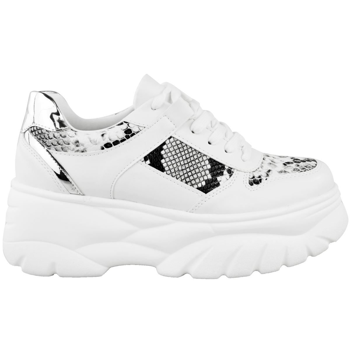 Womens Ladies Chunky High Platform Trainers Sneakers Retro Shoes Rock Punk Goth