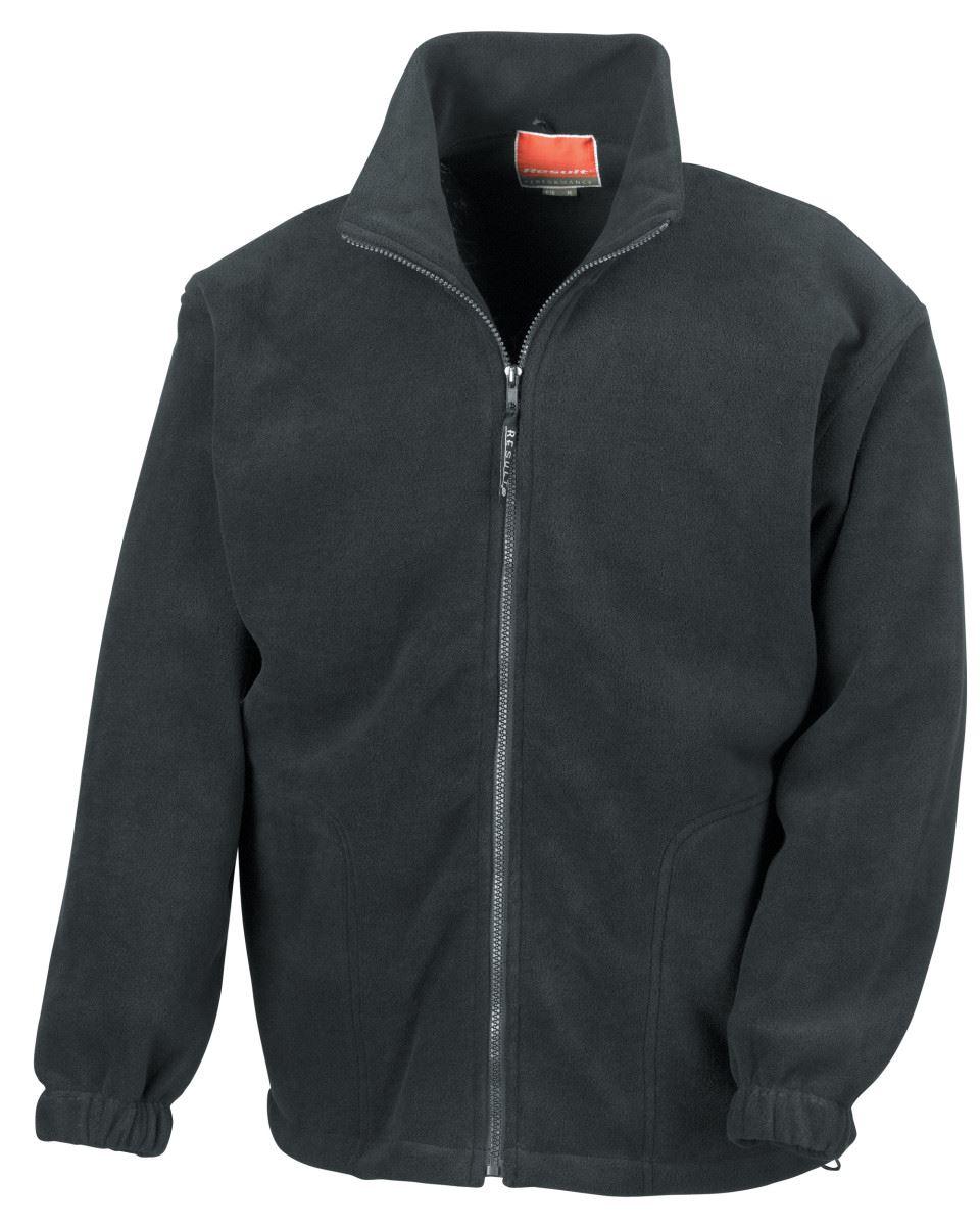 Result RE36A Mens Polartherm Fleece Jacket Burgundy Warm Pullover Top