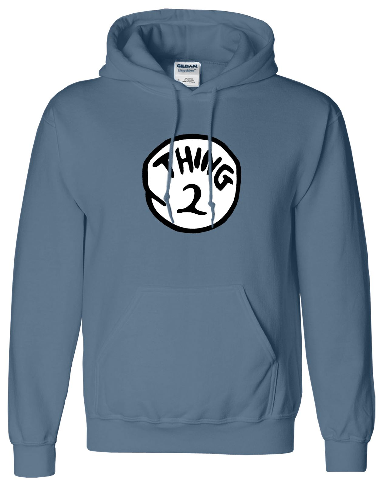 Thing 1 2 Mens Present Book Day Hoodie Unisex Gift Birthday Pullover Jumper