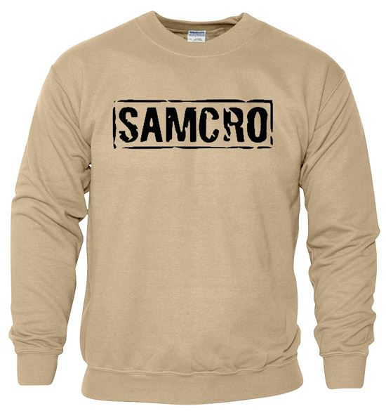 Samcro Mens Sweat Mens Biker Motorcycle Redwood Original SweatShirt Adult Jumper