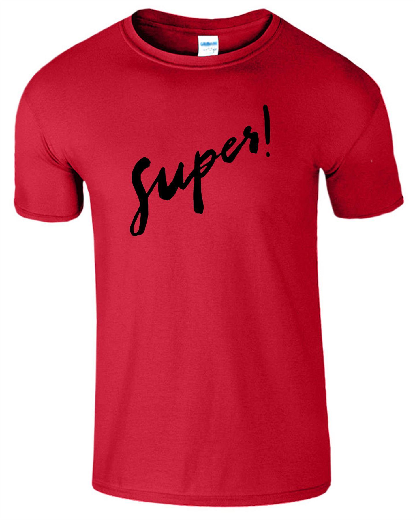 Super Mens T Shirt Casual Workout Gym Fancy Crew Neck Ladies Fit Top Tee T-Shirt