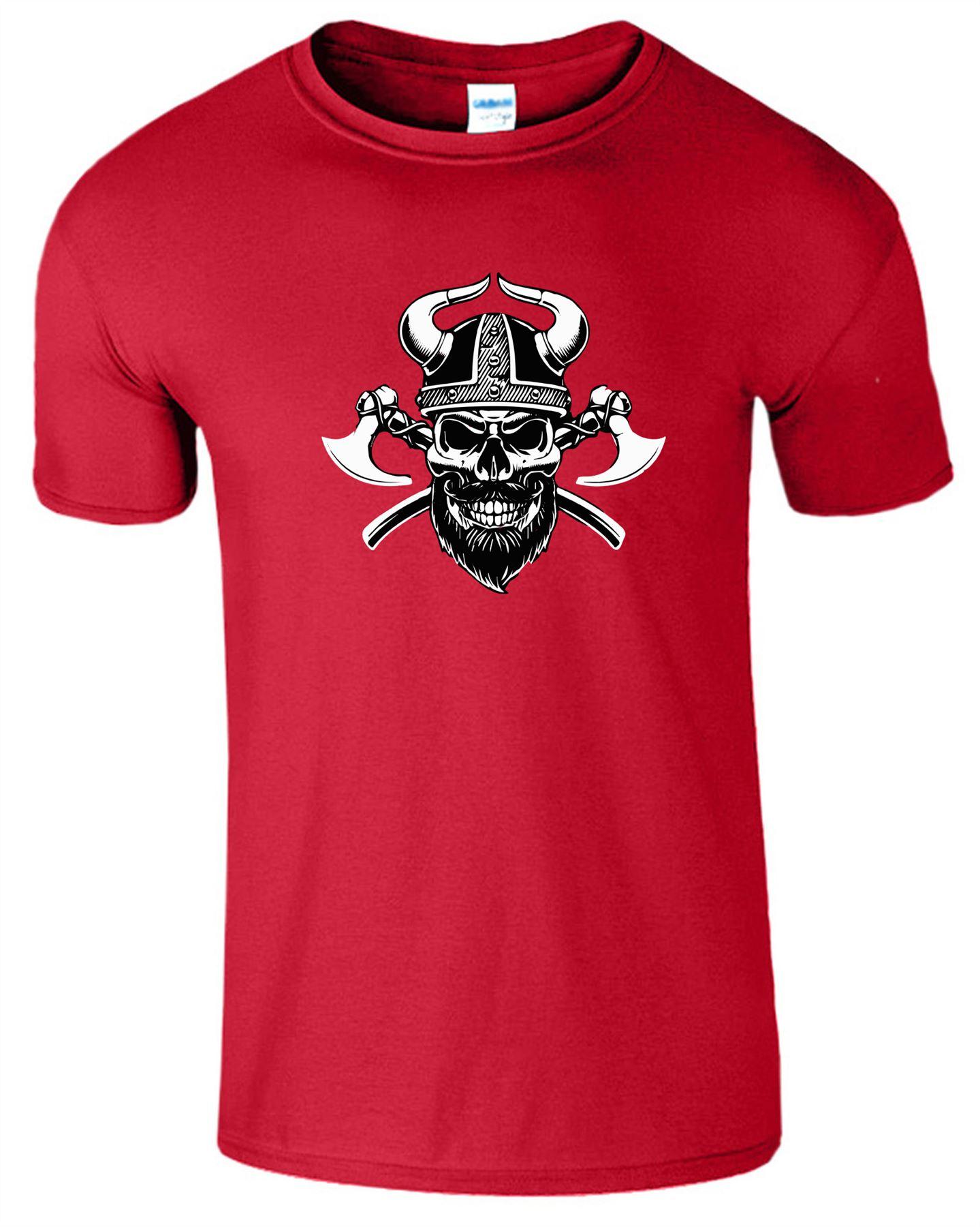 Mens Muscle Fit T Shirt Bodybuilding Crossfit Gym Top UK Seller for Viking Fans