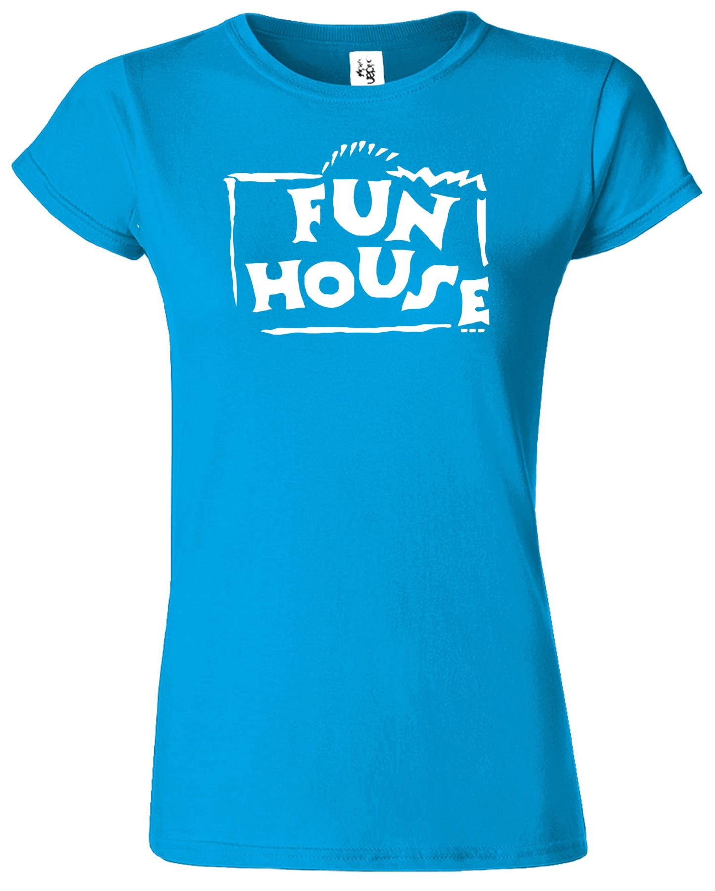 FUN HOUSE Ladies T-Shirt Funny Retro Fancy Dress Costume TV Game Womens Tshirt