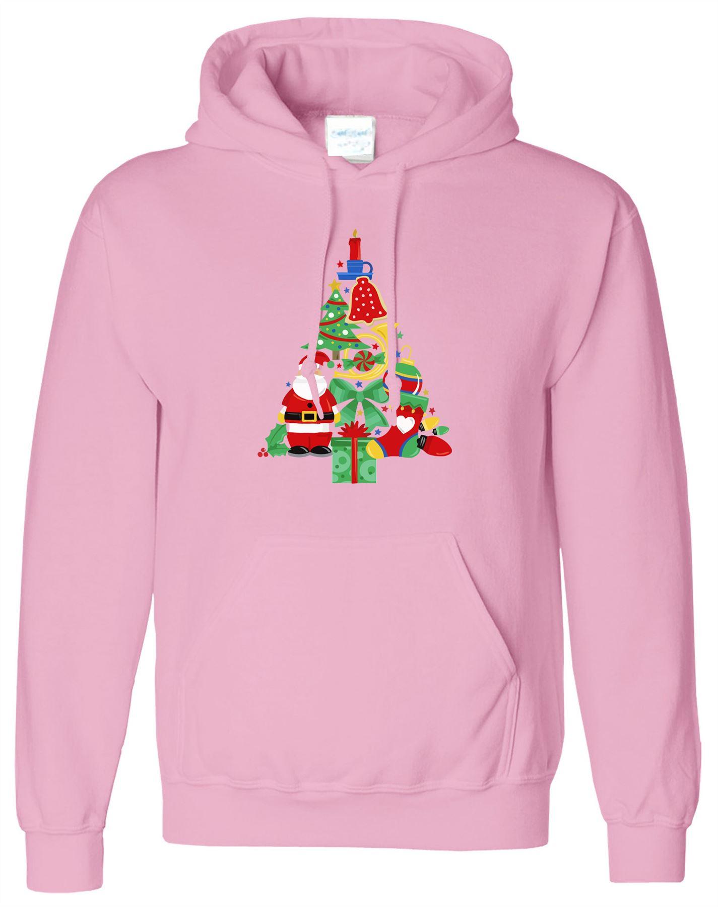 ALBERO di Natale Babbo Natale Campane Calze da uomo con cappuccio Natale Novità Cappuccio Con Cappuccio