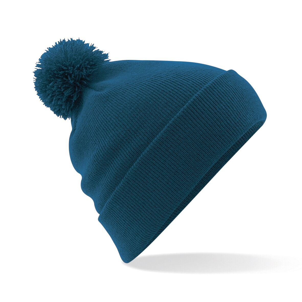 Beechfield Mens Women Original Double Layer Knitted Bobble Beanie Hat BC426