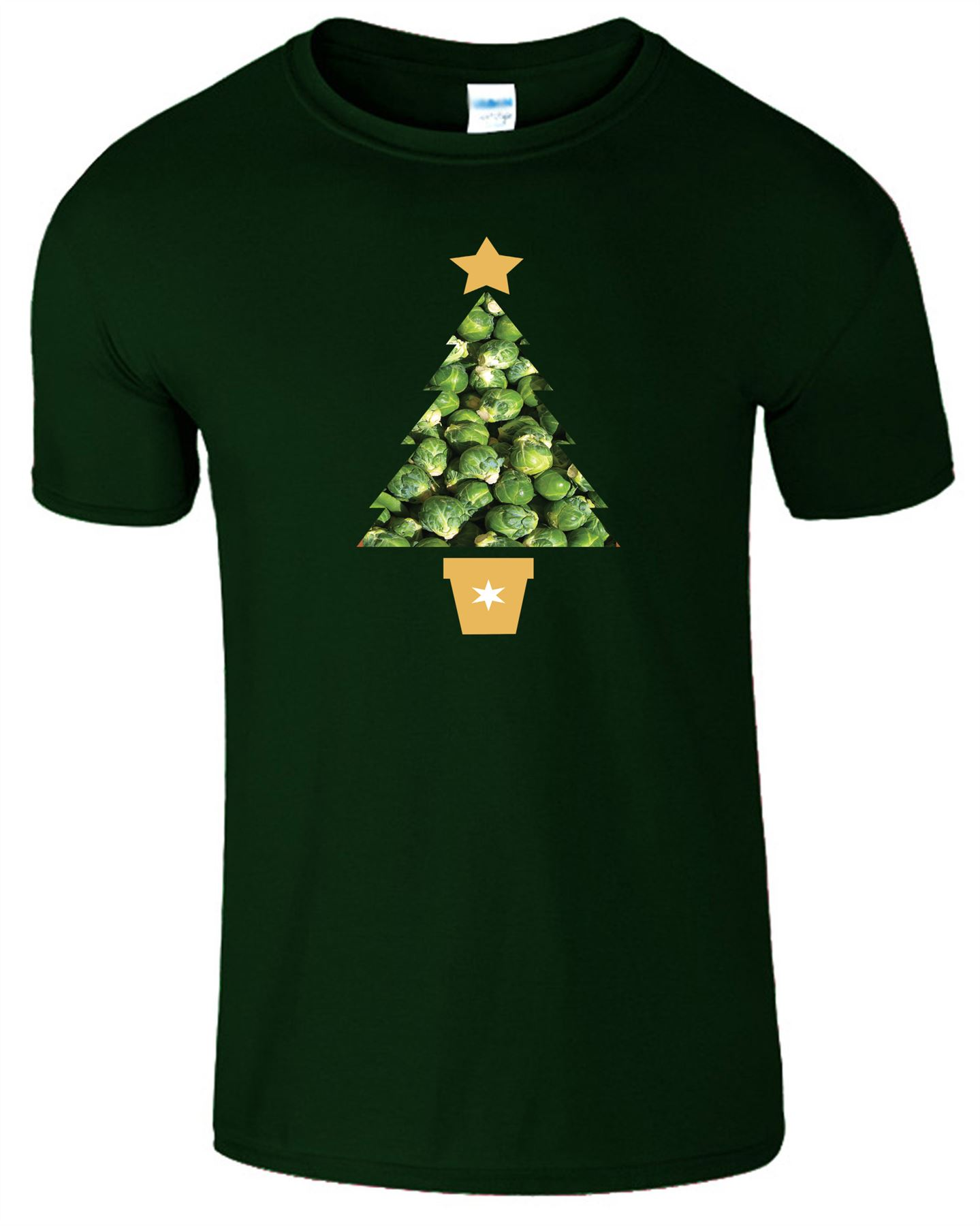 CHRISTMAS TREE SPROUTS Mens Funny T-Shirt Festive Novelty Xmas Kids Top Tshirt