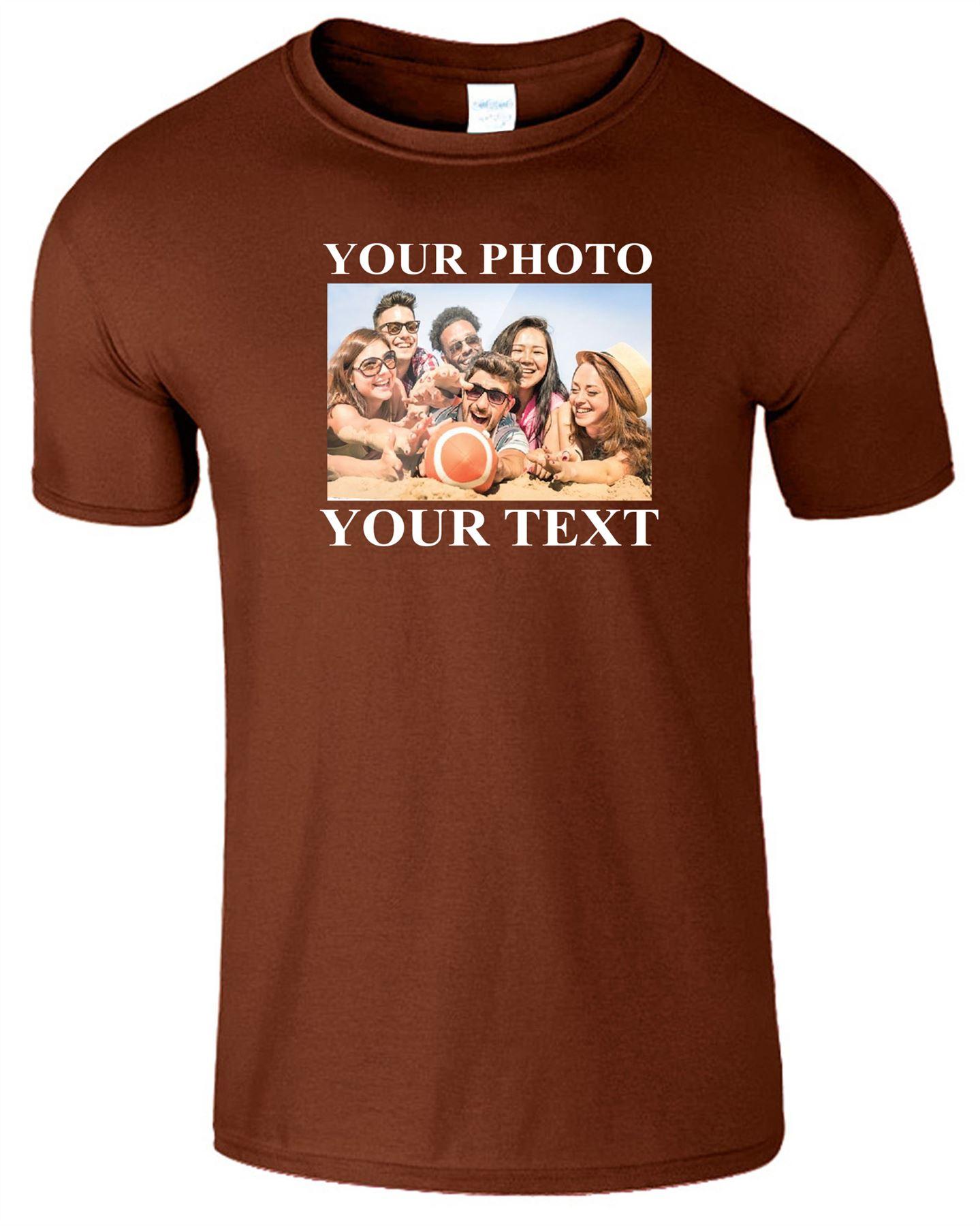 Personalised Photo Image Text Kids T-Shirt Custom Printed Girls Boys Gift Tshirt