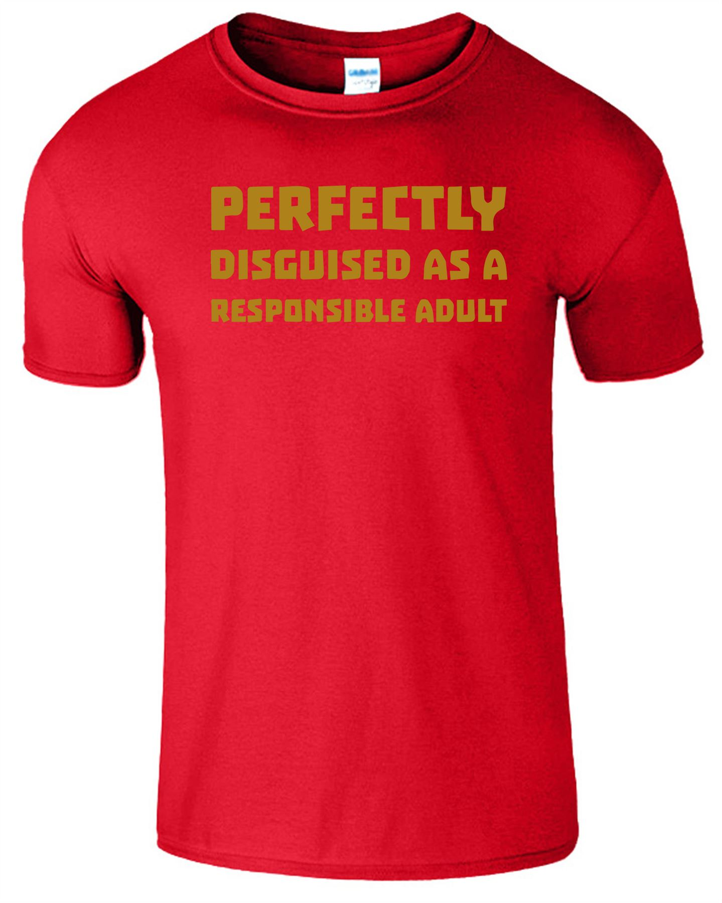 Perfectly Disguised As A Responsible Mens Kids T-SHIRT Stag Hen Birthday Fashion