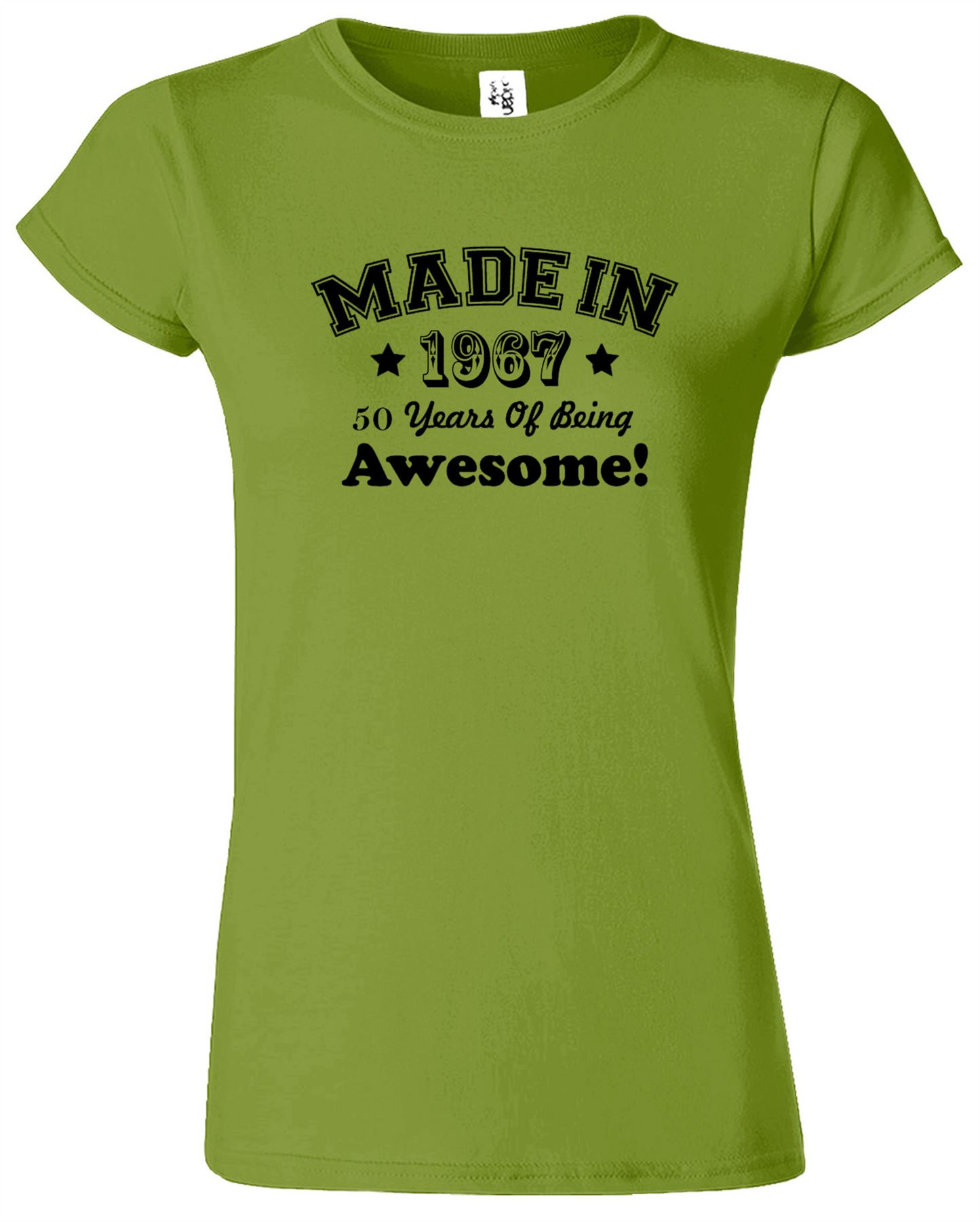 MADE IN 1967 Ladies Fitted TShirt 50 Years Of Being Awesome TShirt Gift