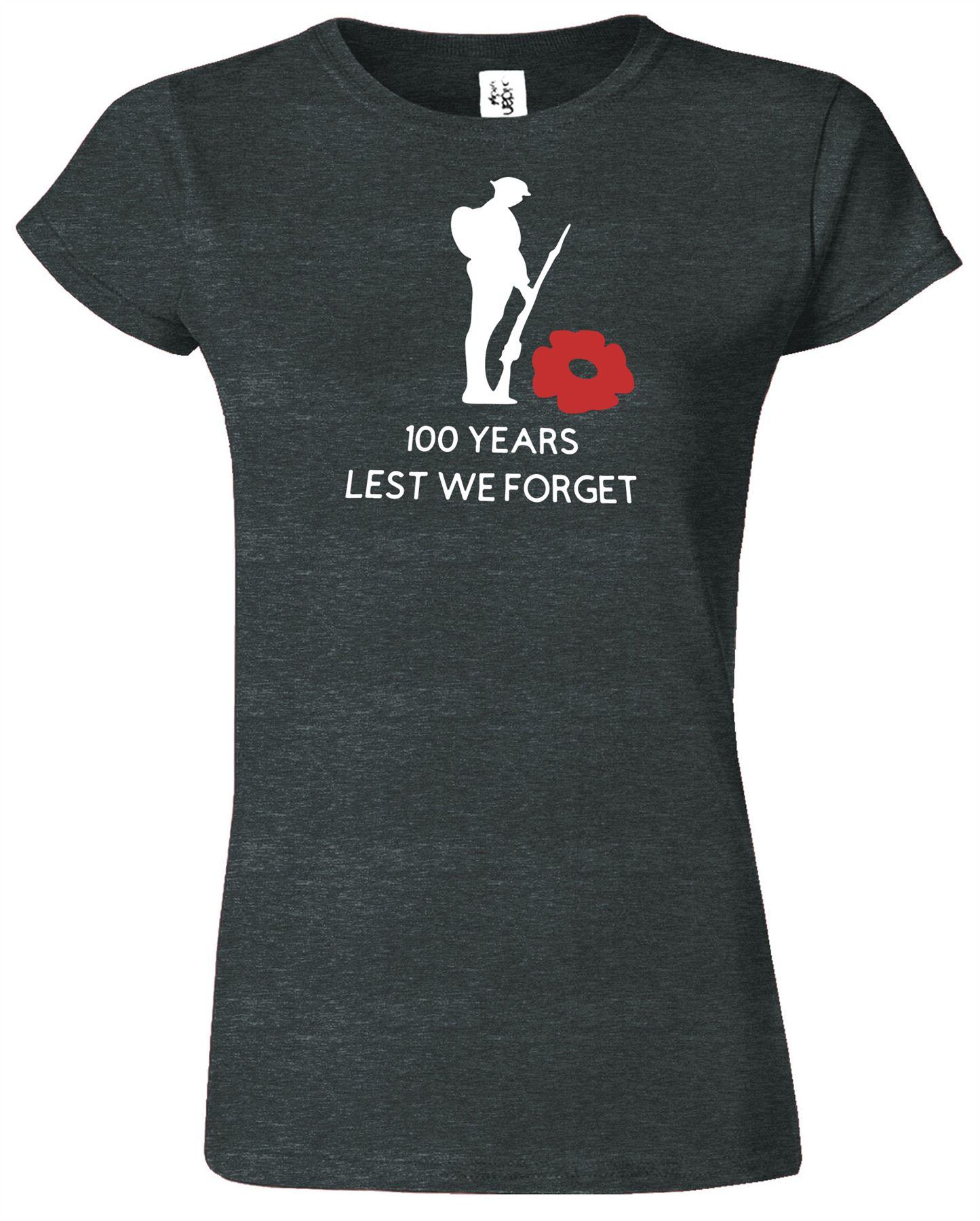 Les soldats du Jour Du Souvenir Femmes T-Shirt Lest We Forget pour femme cadeau tshirt
