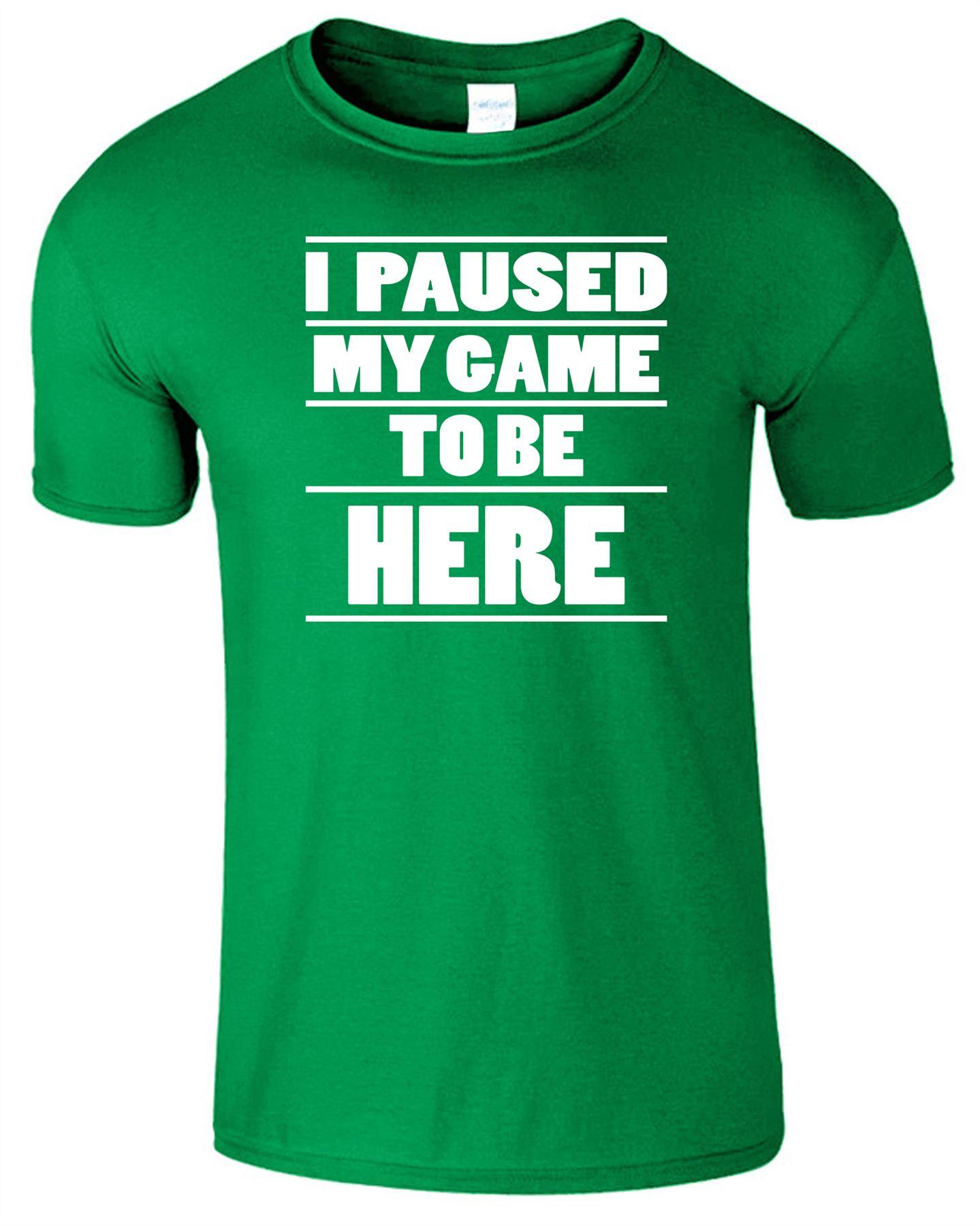 I miei in pausa gioco di essere qui Kids T-shirt Gaming Xmas Natale Ragazzi Ragazze Tee
