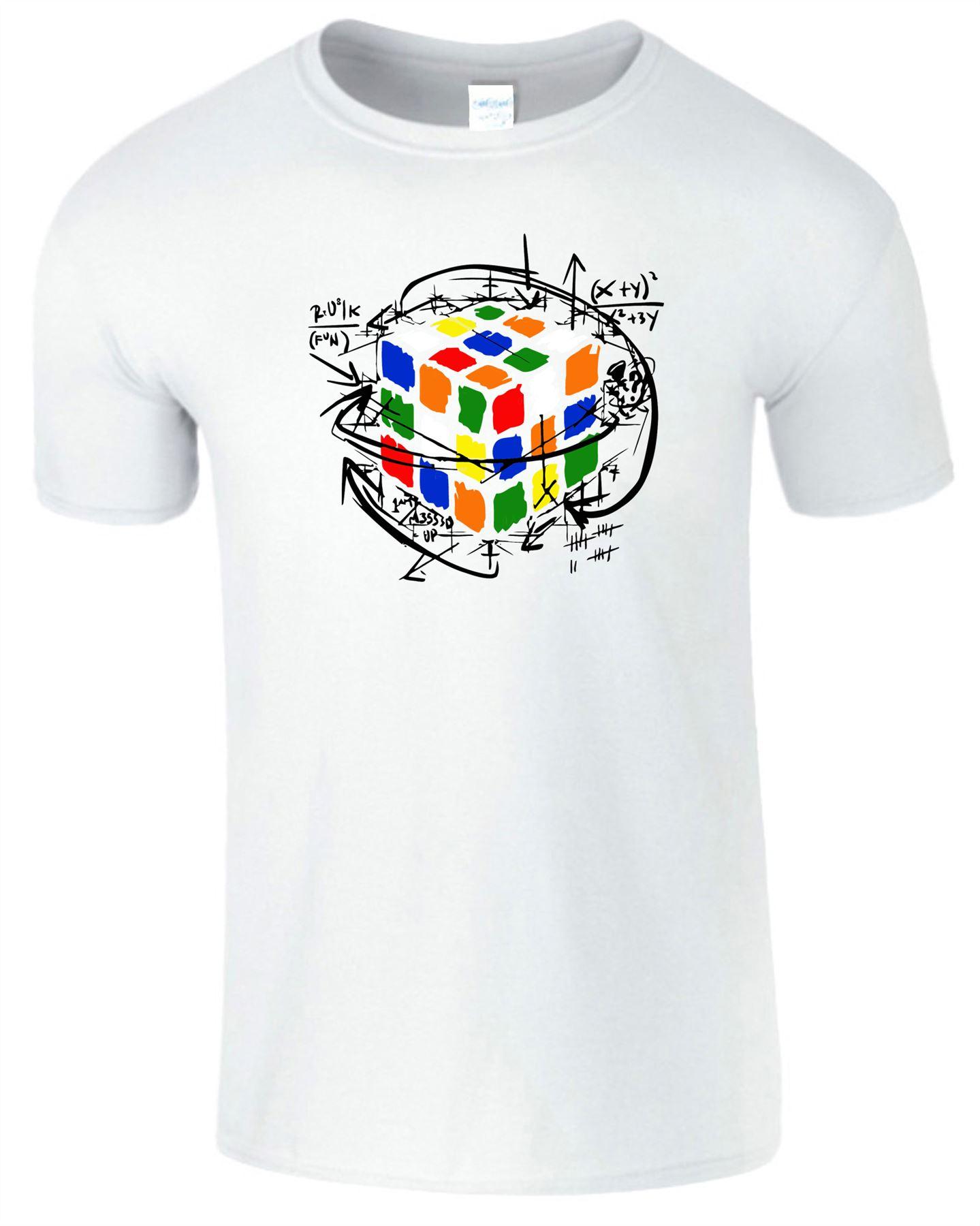 Rubik/'s Cube Equations Mens Kids Tshirt Funny Retro Puzzle Cooper Tee Top TShirt