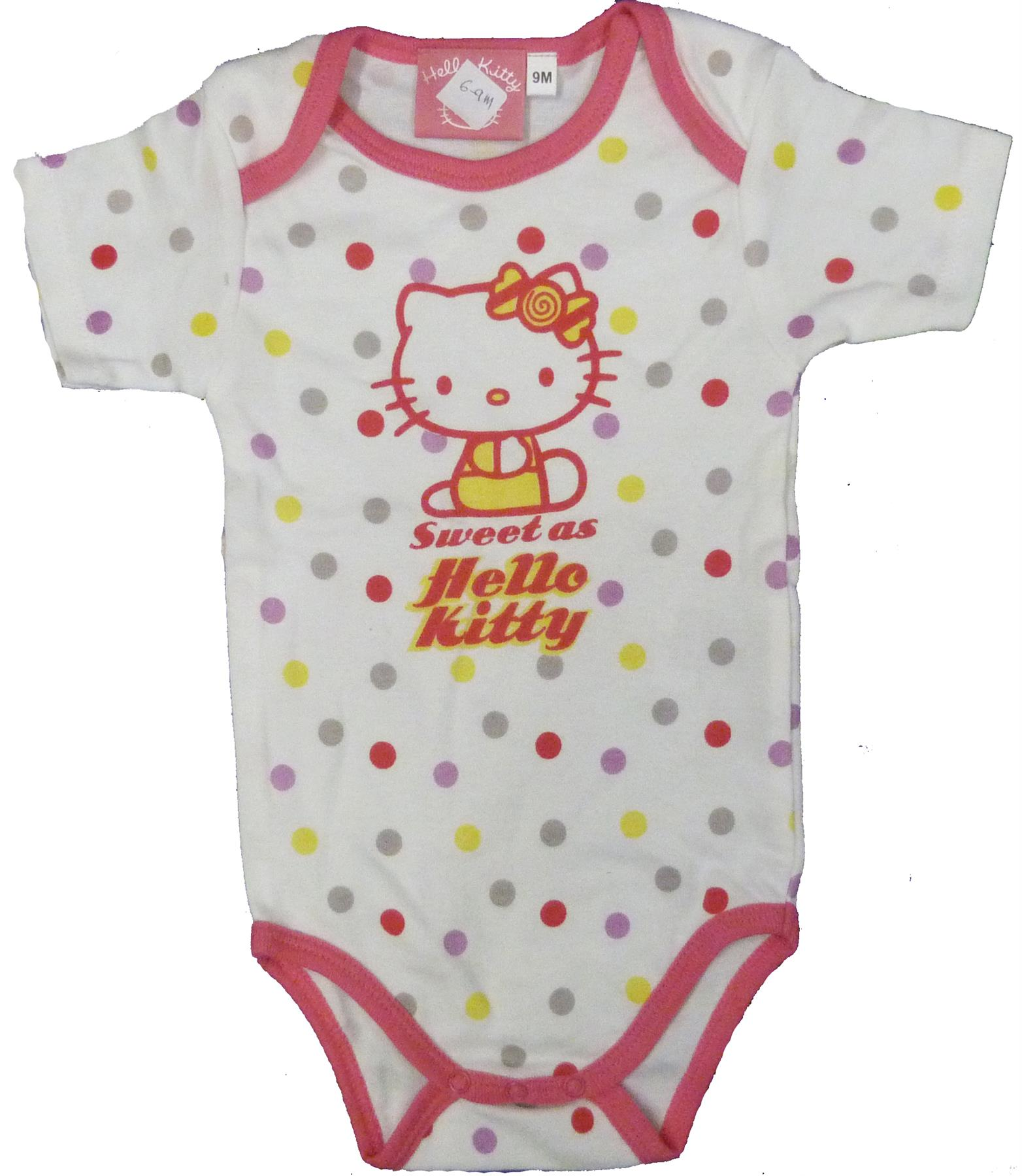 Sleep Suit,Assorted Cartoons /& Colours All in one Hello Kitty Bodysuit
