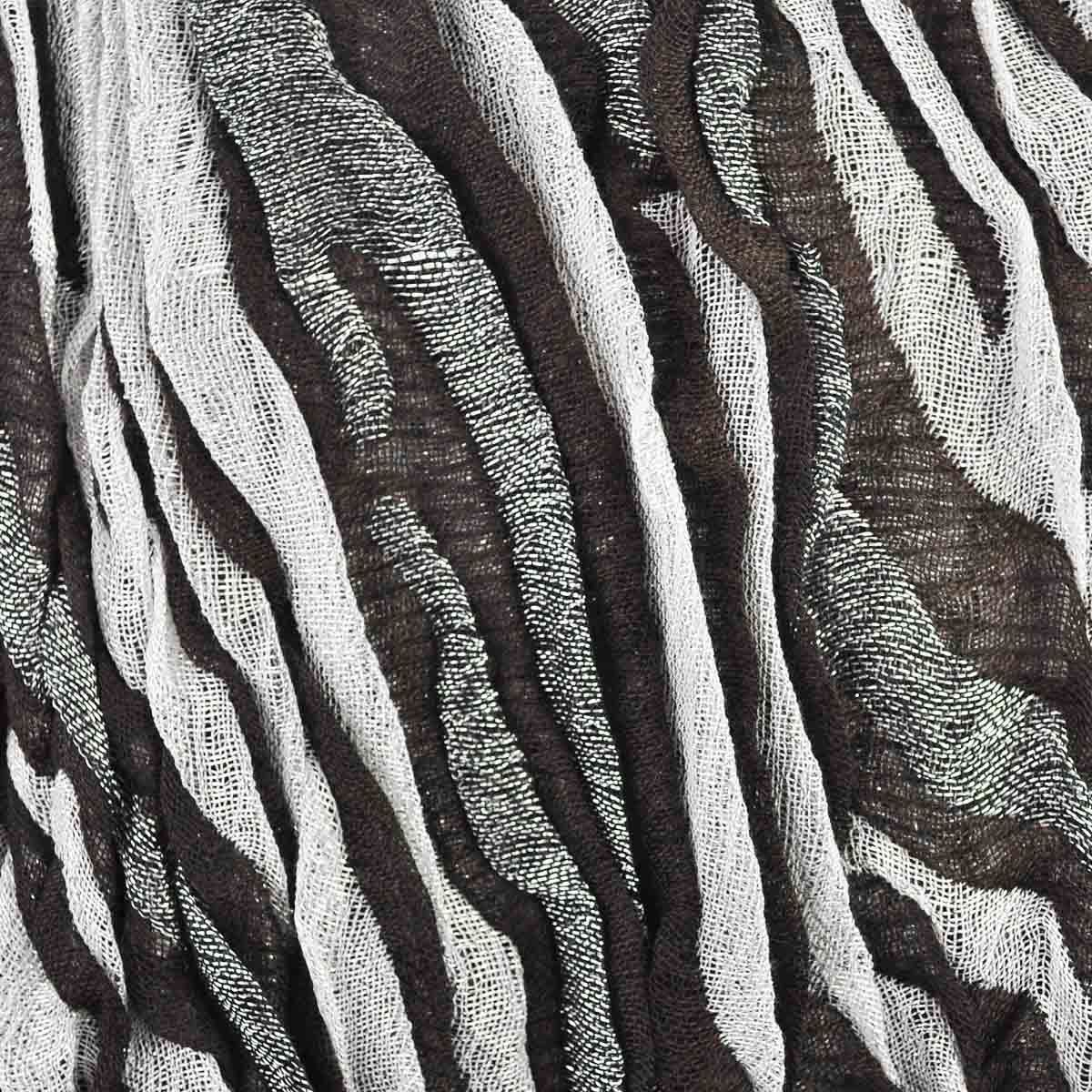 Women Fashion Metalic Zebra ScarfWinter Warm scarf