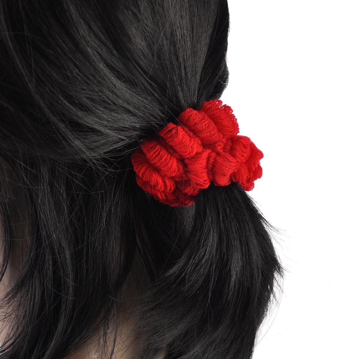 Women Hair Elastics Bobbles Ponios Thick Bands Snag Free
