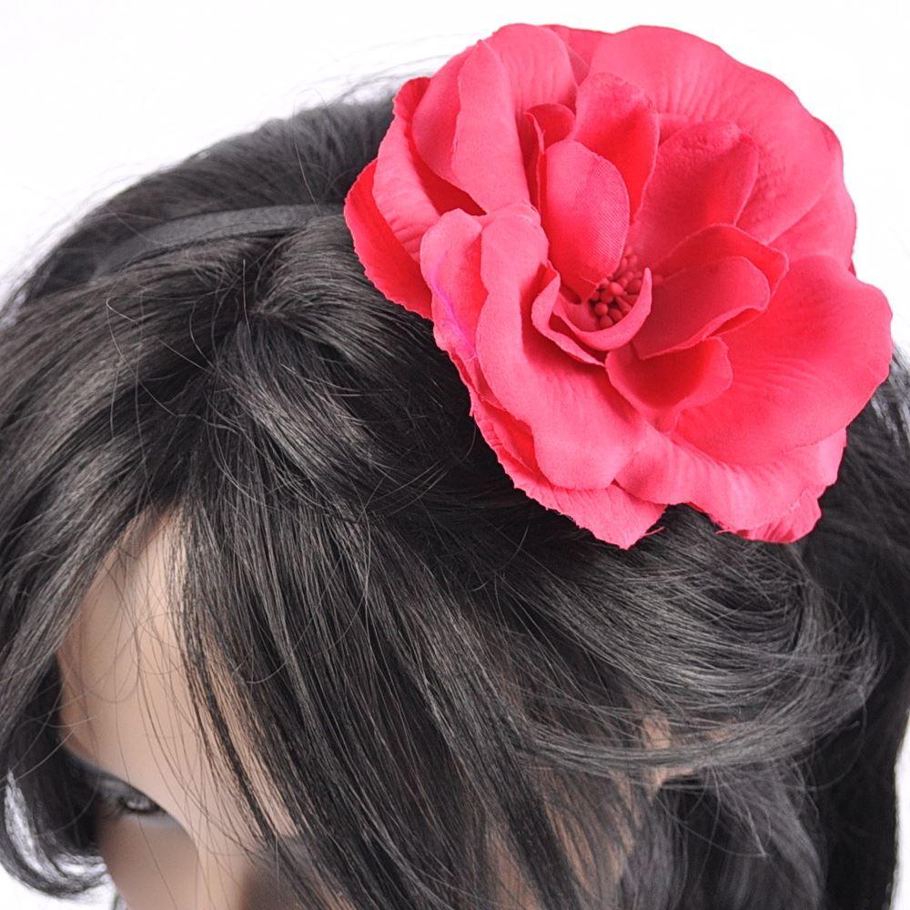 Girls Large Fabric  Boho style Flower Headband Wedding Hairband