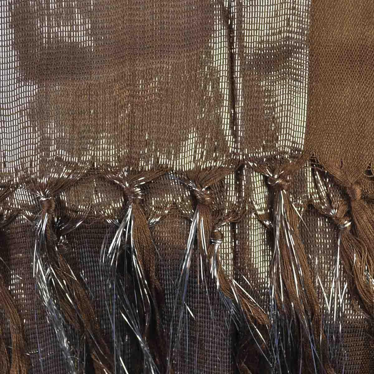 Women Stylish Wet Look Plain Scarf Shiny Lurex Fabric Neck Scarf