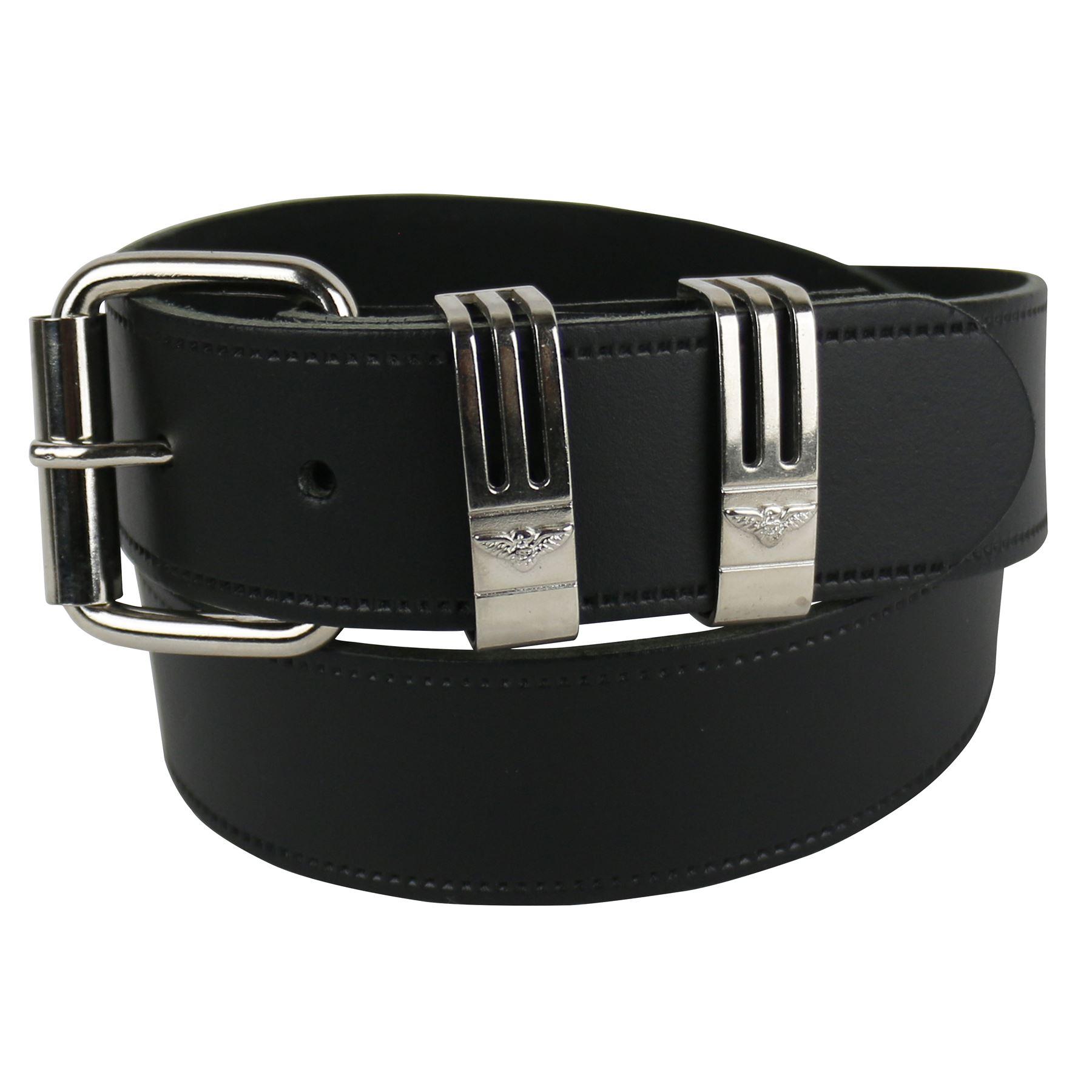 Da Uomo 40MM in pelle in metallo loop elegante Jean Pantaloni Cintura UK MADE Casual B908D