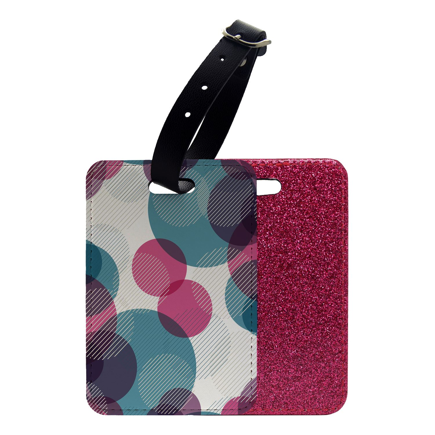 Glitter Luggage Suitcase Tag Abstract Geometric Pattern S4873