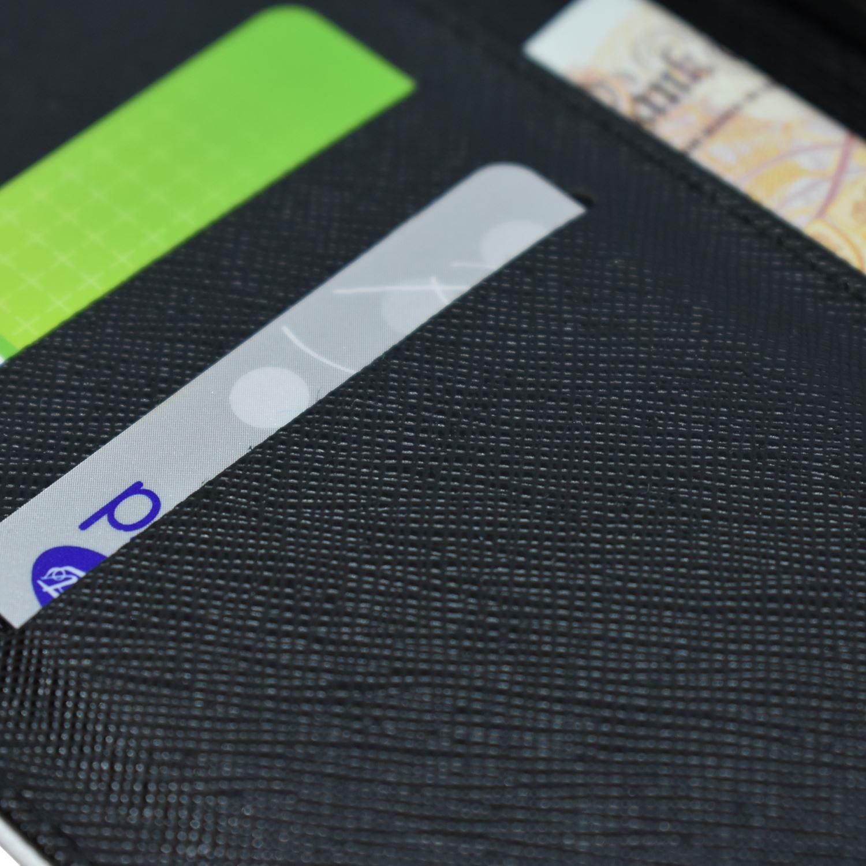 Funda protectora rebatible tipo billetera teléfono calavera impresa-S5728 Abstracto