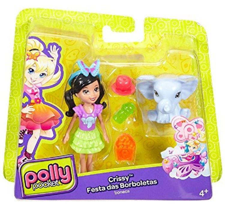 CRISSY Figure Polly Pocket Farfalla Zoo Friends Lila