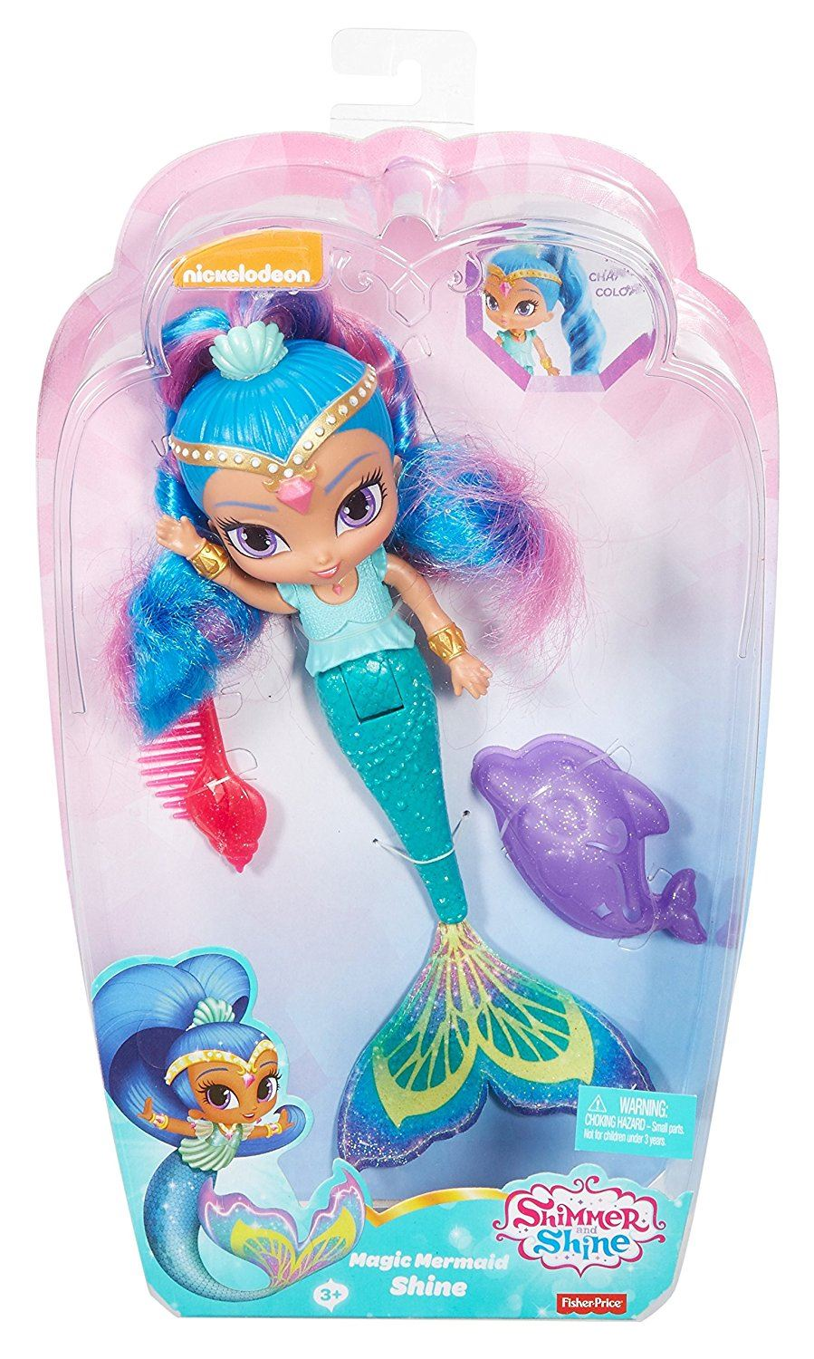 Nila Bath Doll Shine Shimmer /& Shine Magic Mermaid Shimmer