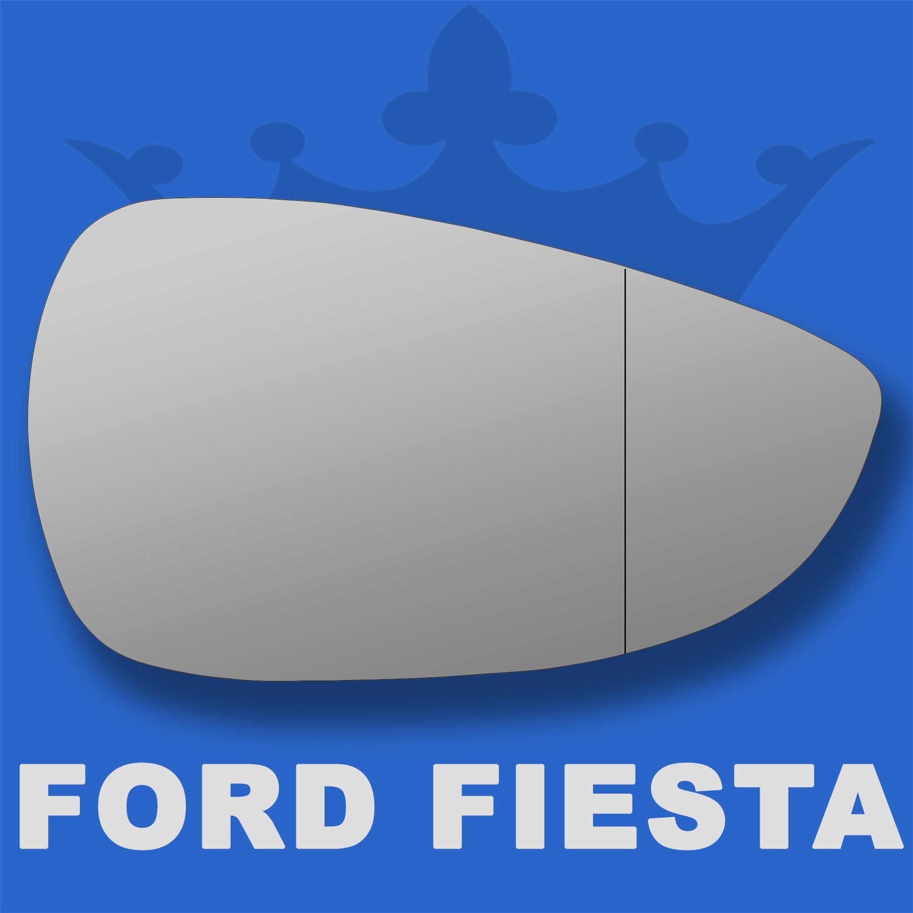Ford Fiesta wing door mirror glass 2008-2013 Right Driver side with Blind Spot