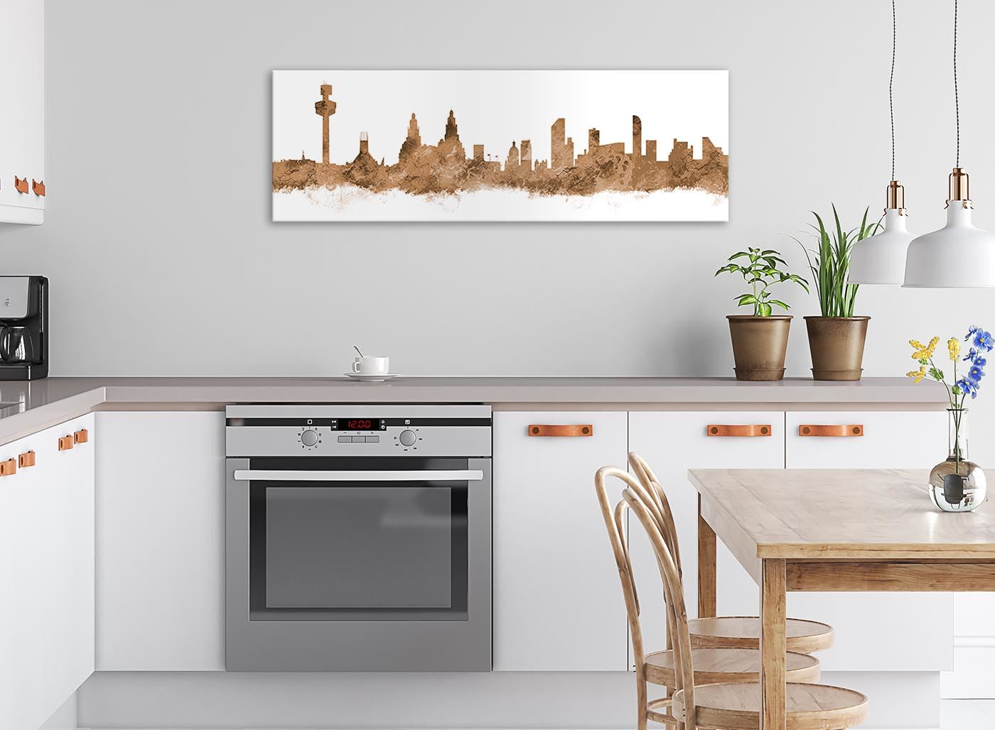 94cm wide Liverpool Skyline Canvas Wall Art Print 17 Colours Available