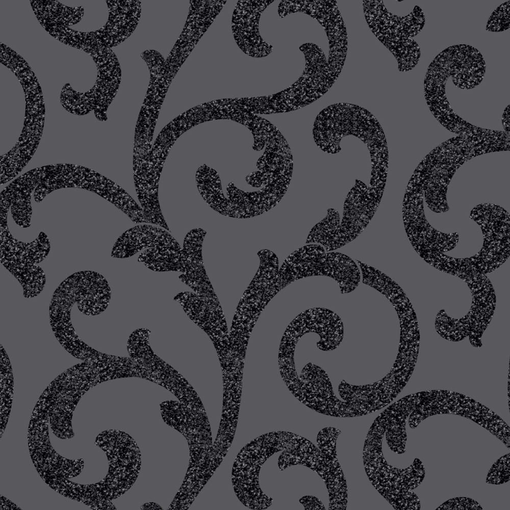 ARTHOUSE GLITTERATI BLACK WALLPAPER GLITTER FEATURE WALL PLAIN STRIPE SCROLL