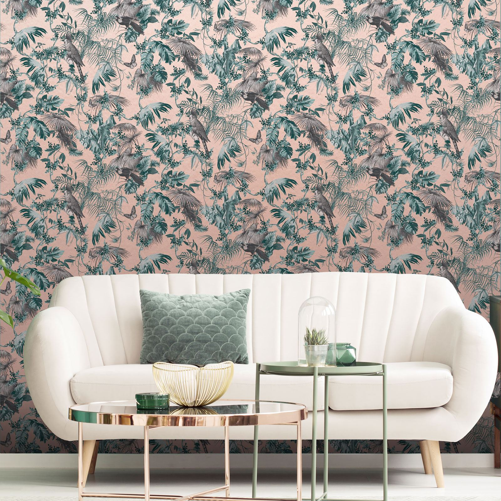 BEAUTIFUL EXOTIC AND TROPICAL BIRDS THEMED WALLPAPERS FEATURE WALL DECOR BEDROOM
