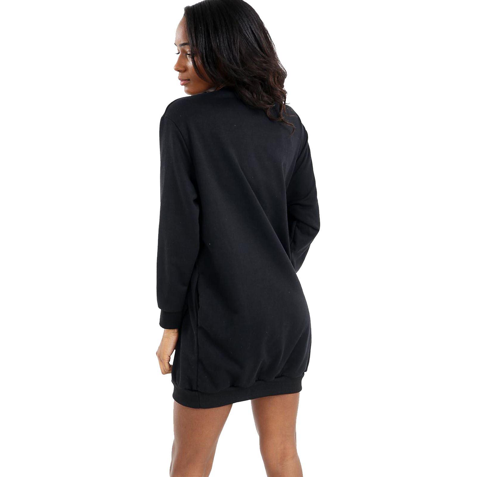 Women Ladies Plain Long Sleeve VOGUE Slogan Sweatshirt Fleece Jumper Top UK S-XL