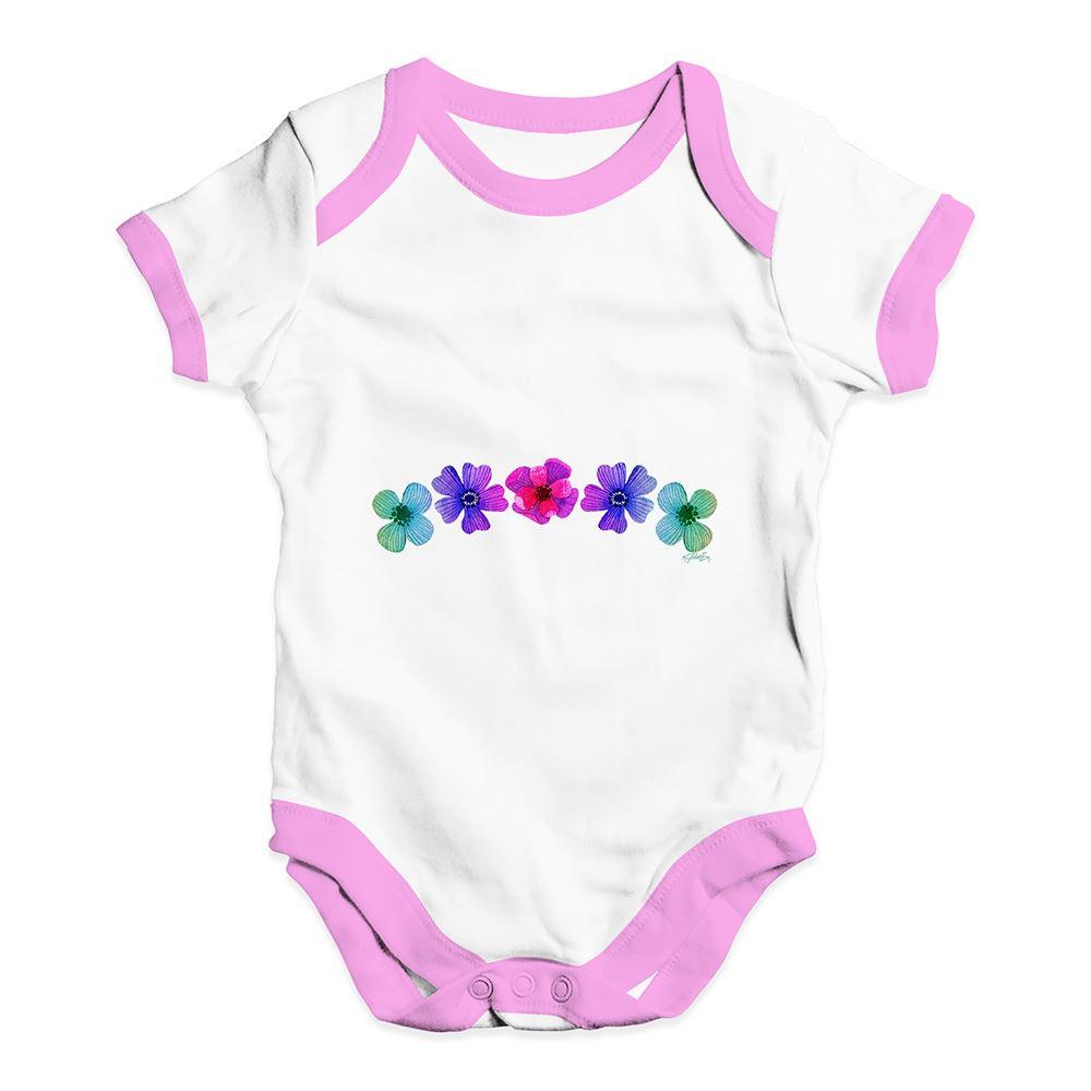 Twisted Envy Hawaiian Flowers Baby Unisex Funny Baby Grow Bodysuit