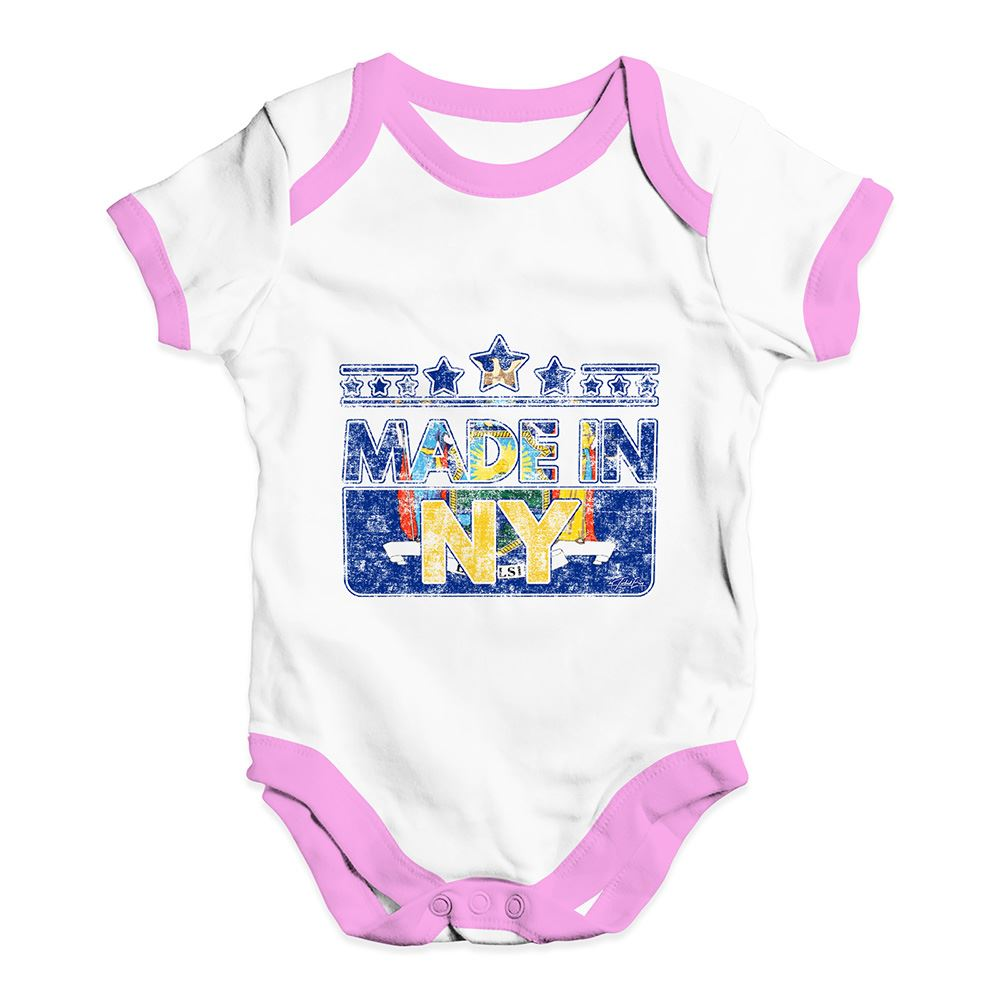Twisted Envy Made In NY New York Baby Unisex Funny Baby Grow Bodysuit