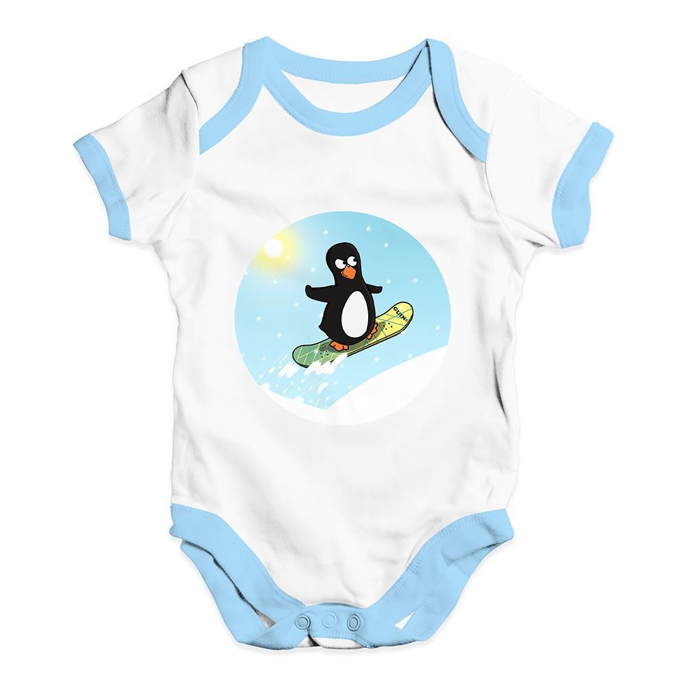 Twisted Envy Snowboard Guin Baby Unisex Funny Baby Grow Bodysuit