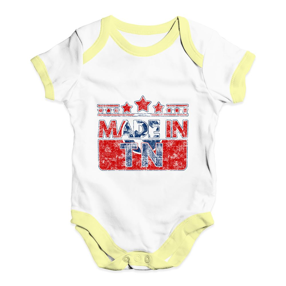Twisted Envy Made In TN Tennessee Baby Unisex Funny Baby Grow Bodysuit