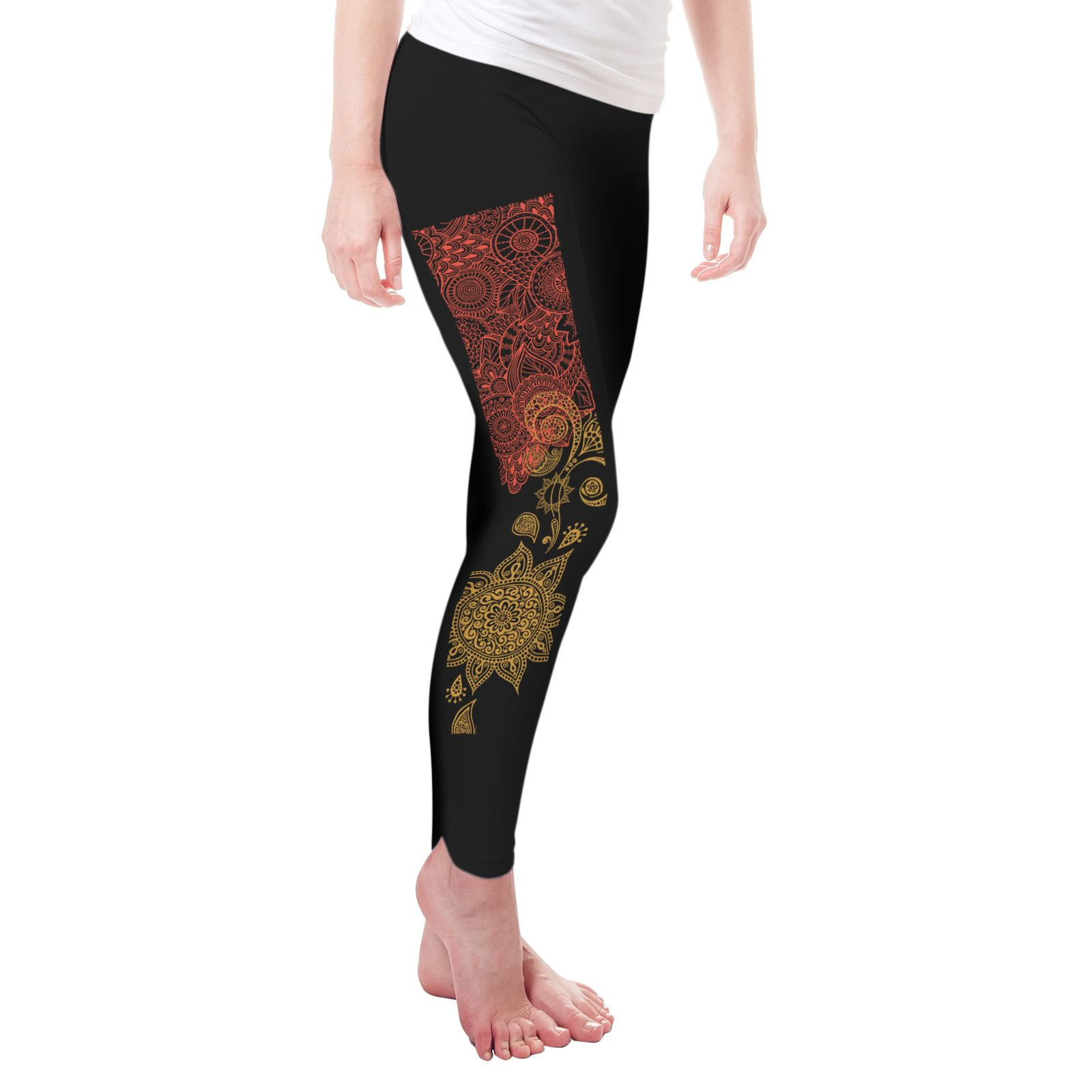 Twisted Envy Beautiful Paisley Sun Women/'s Funny Leggings
