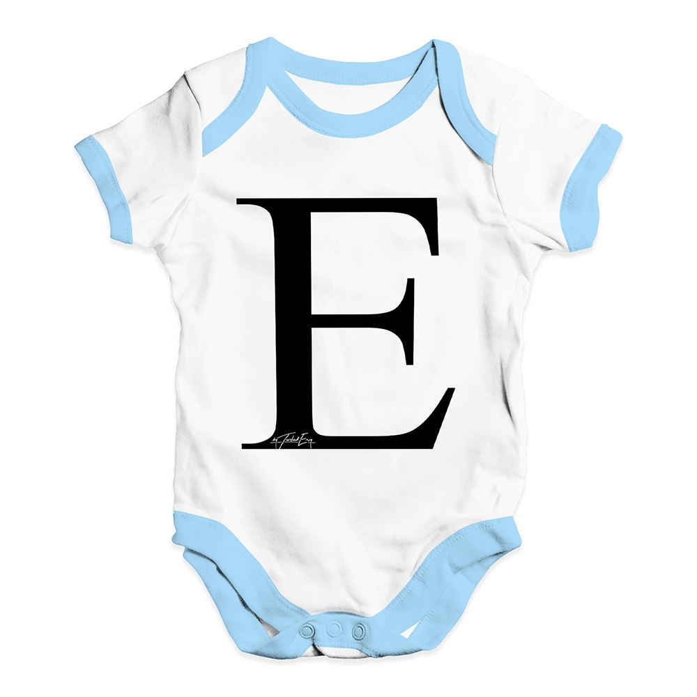 Twisted Envy Alphabet Monogram Letter E Baby Unisex Funny Baby Grow Bodysuit