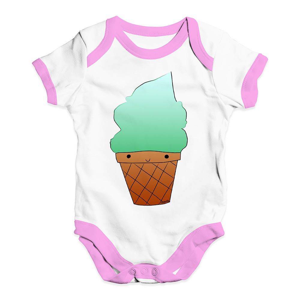 Twisted Envy Mint Ice Cream Baby Unisex Funny Baby Grow Bodysuit