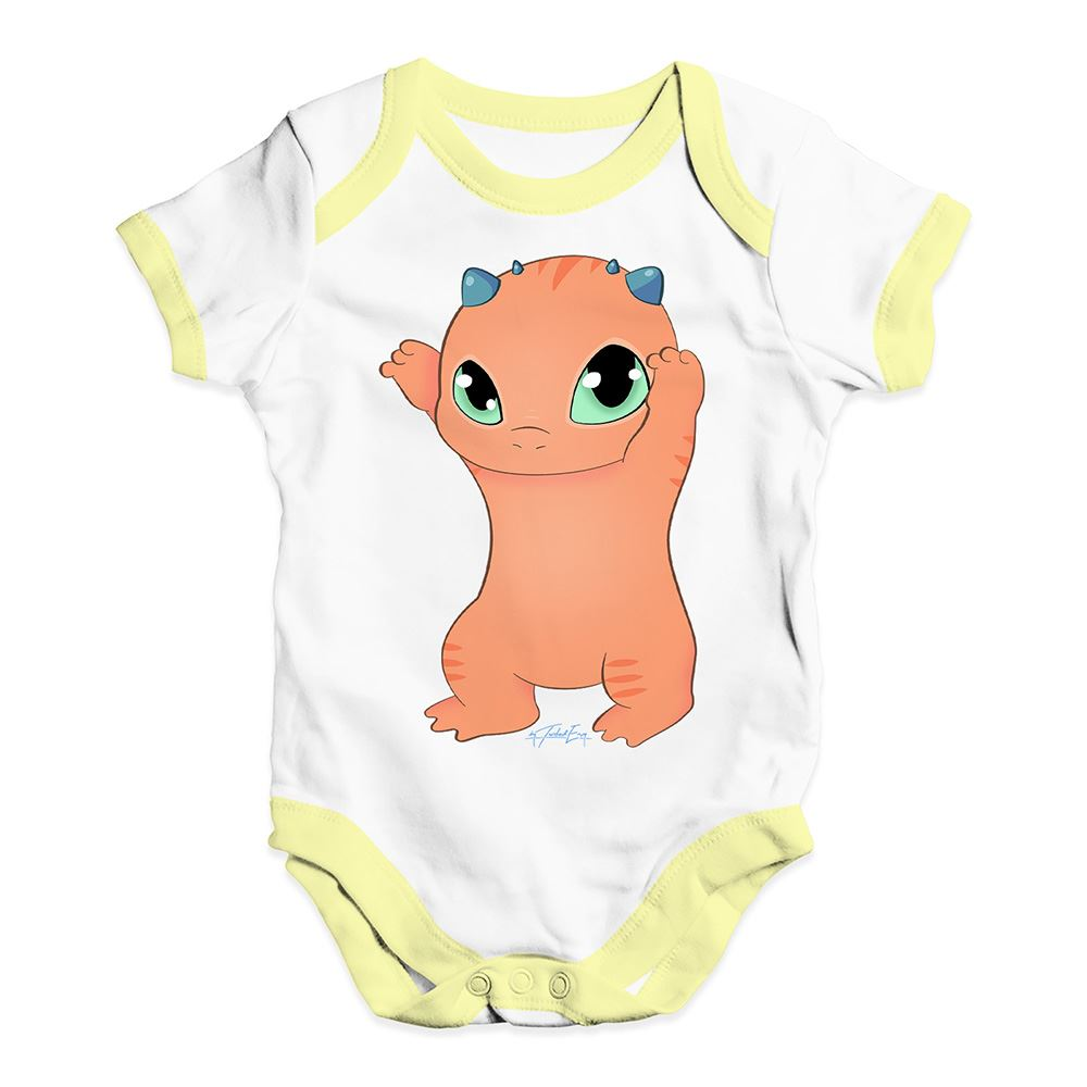 Twisted Envy Cute Snap The Dragon Baby Unisex Funny Baby Grow Bodysuit